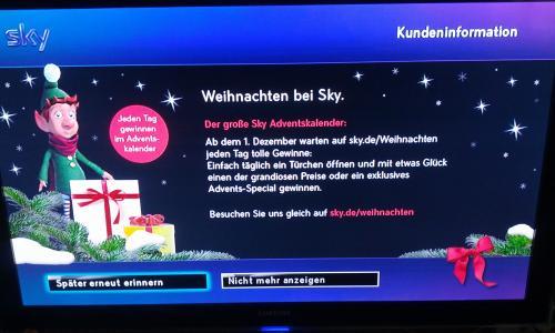 Adventskalender von Sky