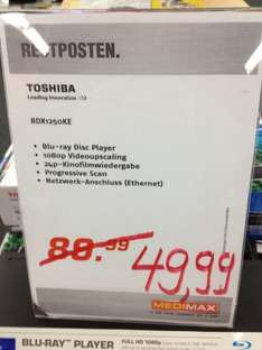 [Lokal/Offline/Medimax 22869 Schenefeld] Toshiba BDX1250KE