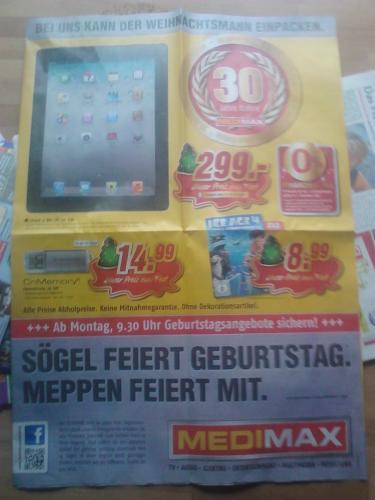 iPad 2 16GB Wi-Fi (Lokal Meppen/Sögel?) Offline Medimax