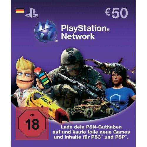 PlayStation Network Card 50 Euro für nur 37,23 € inkl. Versand @Conrad