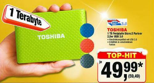 1 TB Externe Toshiba USB 3.0 HDD bei Metro für 59,49 (incl. Märchensteuer)
