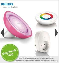 Philips Living Colors Bloom pink (79,95€) oder weiß (69,95€) jeweils mit Living White Adapter @limango