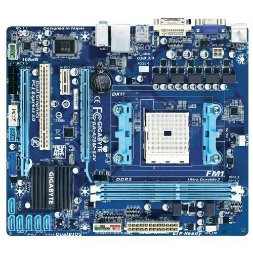 Gigabyte GA-A55M-S2V Mainboard Sockel AMD FM1 Chipsatz AMD A55 FCH 42,18€@ Conrad