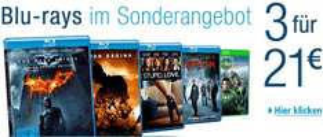 [Amazon] 3 Blu-Rays für 21 €