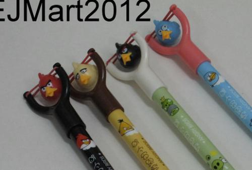 4 Kugelschreiber mit Angry Birds Schleuder für 3,40€ @Ebay