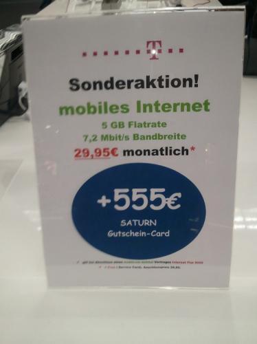 Lokal @Saturn Leipzig/Hauptbahnhof: Mobiles Internet für rund 8,07€ im Monat (bei 24 Monaten mobilcom-debitel)