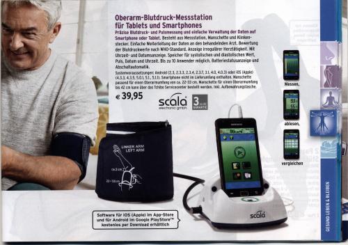 Oberarm-Blutdruckmessgerät mit Smartphone-Anschluss in Tchibo Testfiliale