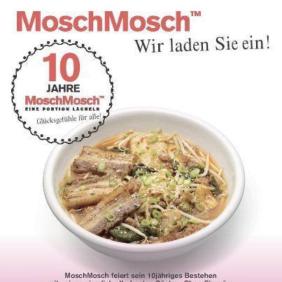 """Restaurantkette Mosch Mosch verschenkt heute Ramen""""Glücksgefühle"""" (Suppe mit Einlage..) anlässlich 10jähriges Jubiläum"""