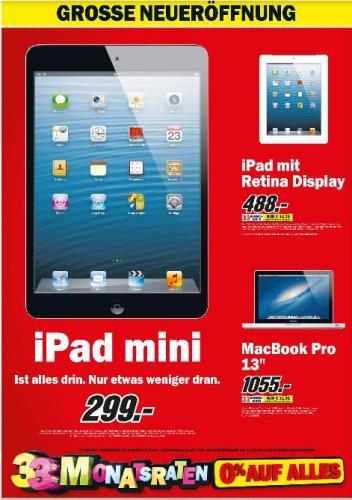 [LOKAL] iPad Mini bei Mediamarkt Dorsten für 299,-