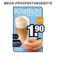1 Latte Macchiato und 1 Donut im Megastore in Friedberg, Parsdorf und Weiterstadt