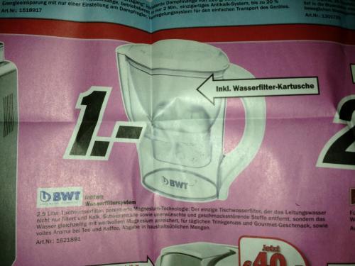Auch Online!! [Lokal] BWT Initium Wassfiltersystem Media Markt Offenburg für 1€!