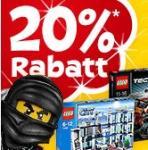 """[Toys""""R"""" Us] 20% auf Lego ab 80 € (+ 6% Qipu) + VSK-frei"""