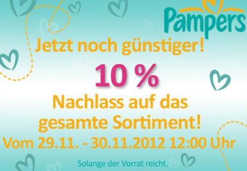 Baby-Markt.de - 10% zusätzlichen Rabatt auf alle Windeln von Pampers!