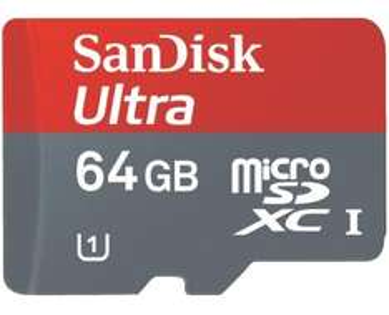 SanDisk microSDXC Karte Ultra 64GB Class 10 inkl. SD-Adapter für 41,19 € @Smdv