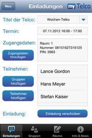 Kostenlose myTelco App fürTelefonkonferenzen