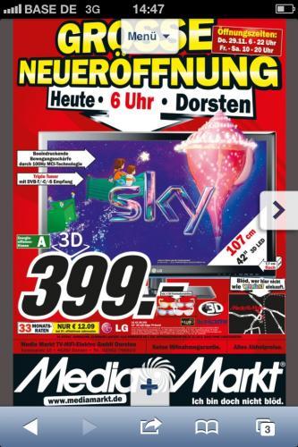 "LG 3D FullHD 42"" Fernseher LG42LM340 @MM Dorsten"
