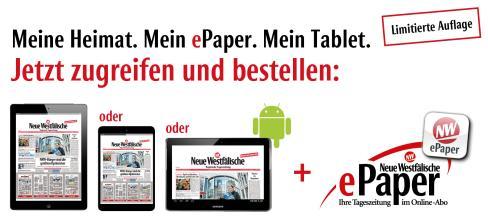 Neue Westfälische mit iPad 4, iPad mini oder Samsung Galaxy Tab 2 10.1 [LOKAL?]
