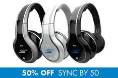 SMS Audio SYNC by 50 Wireless Over-Ear Headphones - Kopfhörer