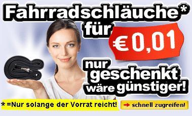 Fahrradschläuche fast geschenkt (7,99 € Versandkosten)