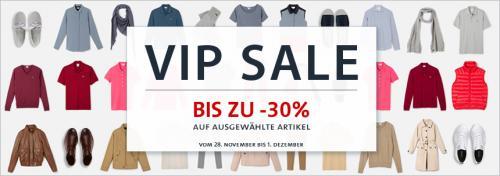 30% VIP Shopping bei Lacoste + 20€ Gutschein (ab 100€) + Geschenk + 5% Qipu