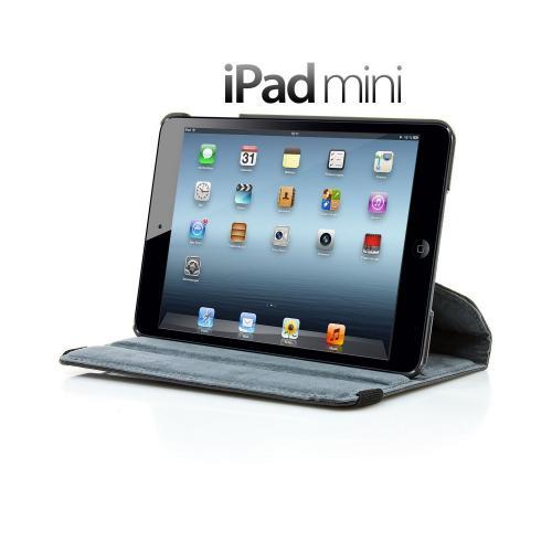iPad Mini Ledertasche 360 Grad drehbar in schwarz