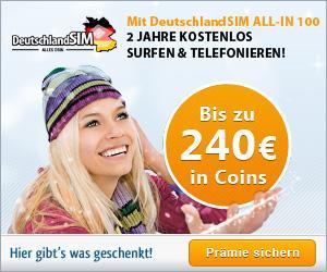 DeutschlandSIM ALL-IN 100 für effektiv etwa 20€