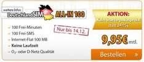 Neue Angebote bei DeutschlandSIM (D2- und o2-Netz)