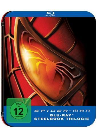 """Saturn Online   """"Blu-ray Spider-Man Trilogie Steelbook  für 12€"""" bei Lieferung/Abholung im Markt"""