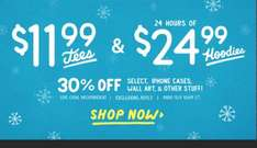 Wieder Threadless: Hoodies 24,99$ / Tees 11,99$ / 30% auf diverses