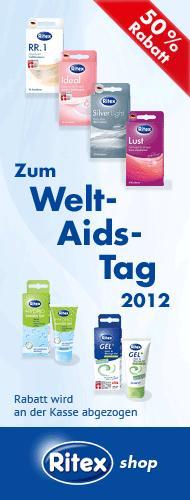 Zum Welt-Aids-Tag 50% auf Kondome, Gleitcreme etc.! @Ritex