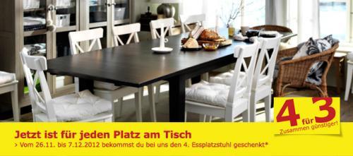 IKEA Sindelfingen Stuhlaktion - Kaufe 4 zahle 3