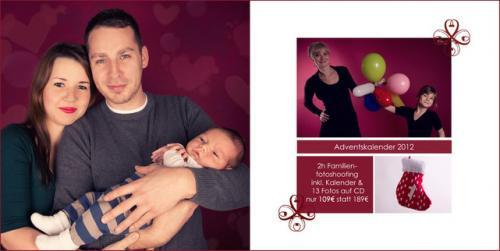 2 Stunden Familienfotoshooting, inkl. 13 Fotos auf CD & Familienkalender für nur 109€! (regional)