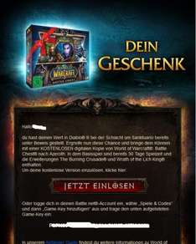 World of Warcraft®: Battle Chest® nach Azeroth Kostenlos als Newsletter