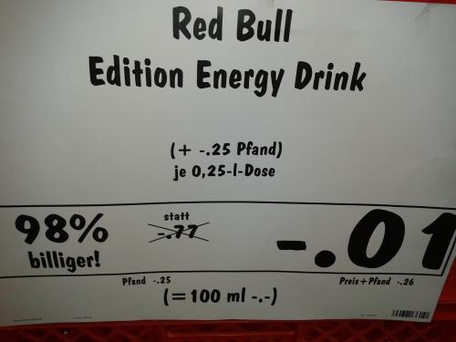 [lokal - Kaufland Lüneburg-Nord] Red Bull Edition 0,01 Euro plus Pfand