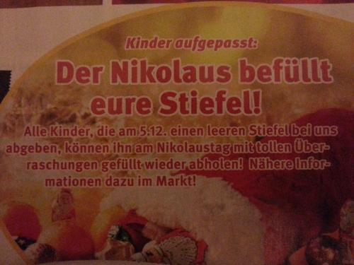 [Lokal Berlin&Brandenburg/evtl. bundesweit?] Kaiser's: (Mydealz-)Kinder können sich gratis Stiefel füllen lassen