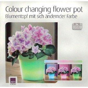 [Deko-Deal] LED Blumentopf (13x16cm) 1,99€/Stk. zzgl einmal 3,5€ Versand (Verlgeichspreis ~7€!)