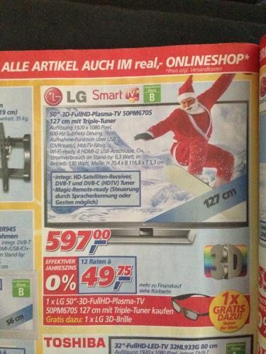 (REAL) 50'' 3D FullHDD Plasma TV - LG SmartTV