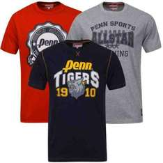 Penn Men's 3-Pack Varsity T-Shirt - Grey Marl/Navy €12.89 inkl.Versand