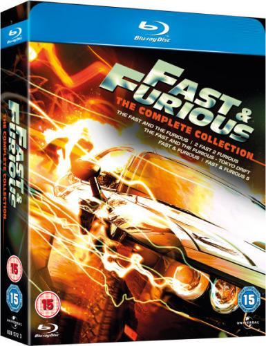 Blu-Ray - Fast and Furious 1-5 (5 Discs) für €14,73 [@TheHut.com]