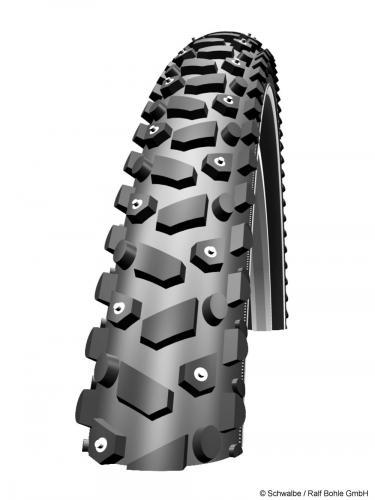 mit dem Rad durch den Winter: Schwalbe Snow Stud mit Spikes 26x1.90