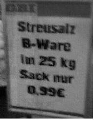 (Lokal Wuppertal) 25 KG Streusalz  B-Ware bei Obi für 99 Cent