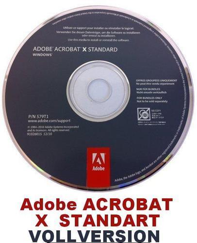 Adobe Acrobat Standard X (10) OEM für nur 84,99 EUR inkl. Versand