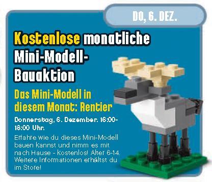 [Lego Stores] Gratis Mini-Rentier für Kinder am 6.12.