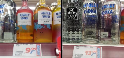 Absolut Vodka 1 Liter 13,99€ BUNDESWEIT