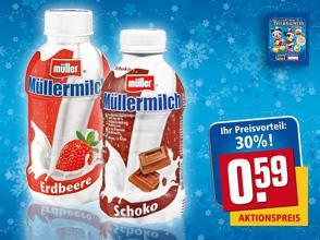 [Bundesweit] Müller Milch 400ml/500ml @Rewe