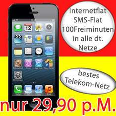 Apple Iphone 5 16GB 29,95 EUR D1 100MIN/SMS/Internet AG0