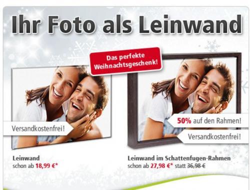 Fotoleinwand   ab 8,99 Euro dank der kostenlosen Lieferung  und  einem 10 Euro Gutschein ohne MBW@posterXXL