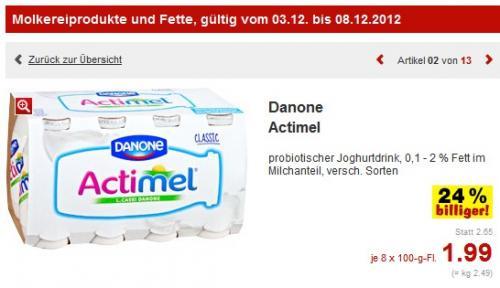 Kaufland: Actimel 8x zu 1,99 Euro