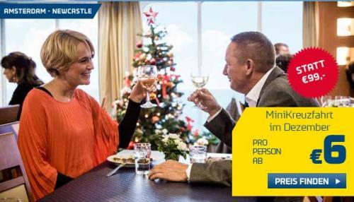 3 Tage Minikreuzfahrt Amsterdam - Newcastle für 2 Personen für 22,- € (11,- € pro Person / Dezember)