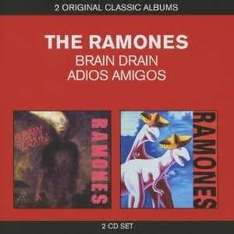 """THE RAMONES"" 2-Alben-Box: 'Brain Drain/Adios Amigos' @play.com zoverstocks"